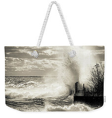November Gales Bw Weekender Tote Bag