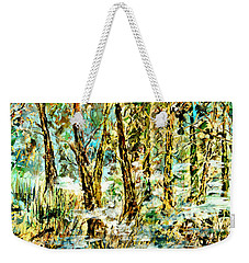 Weekender Tote Bag featuring the painting November Morn by Alfred Motzer