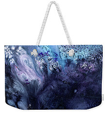 November Rain - Contemporary Blue Abstract Painting Weekender Tote Bag