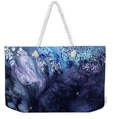 November Rain - Contemporary Blue Abstract Painting Weekender Tote Bag