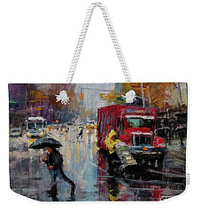 November Rain Weekender Tote Bag
