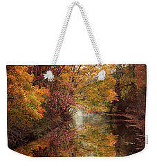 Weekender Tote Bag featuring the photograph November Reflections by Jessica Jenney