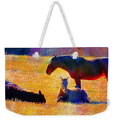 November Slumber With Magpie Chatter Weekender Tote Bag by Anastasia Savage Ealy