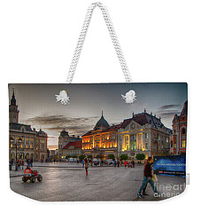 Novi Sad Liberty Square At Twilight Weekender Tote Bag by Jivko Nakev