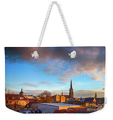 Novi Sad Roofs Lit By The Setting Sun Weekender Tote Bag by Jivko Nakev