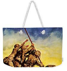 Now All Together Vintage War Poster Restored Weekender Tote Bag by Carsten Reisinger