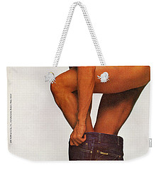 Weekender Tote Bag featuring the digital art Now Everybody Can Get Into Studio 54 by Reinvintaged