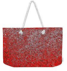 Now It's Red Weekender Tote Bag by Rachel Hannah