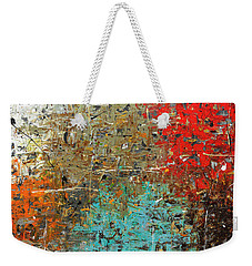 Weekender Tote Bag featuring the painting Now Or Never by Carmen Guedez