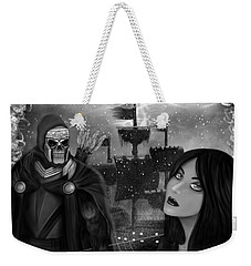 Now Or Never - Black And White Fantasy Art Weekender Tote Bag
