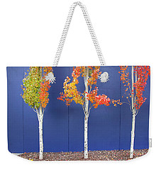 Weekender Tote Bag featuring the photograph Now Showing by Theresa Tahara