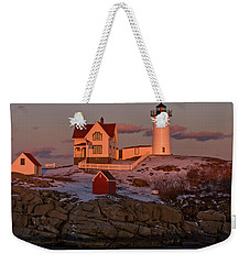Nubble Light At Sunset Weekender Tote Bag