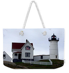 Nubble Light Weekender Tote Bag by Kevin Fortier