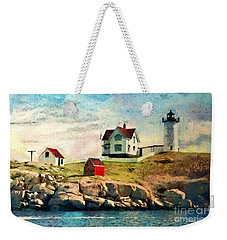 Nubble Light - Painted Weekender Tote Bag