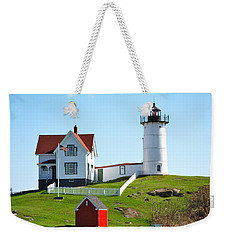 Nubble Lighthouse Weekender Tote Bag by Eric Tressler