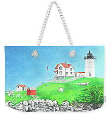 Nubble Weekender Tote Bag by Troy Levesque