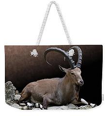 Nubian Ibex Portrait Weekender Tote Bag