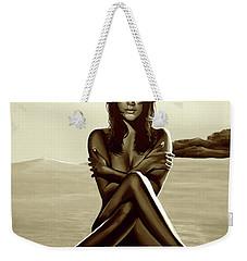 Nude Beach Beauty Sepia Weekender Tote Bag