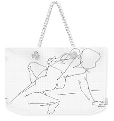 Nude-female-drawing-17 Weekender Tote Bag