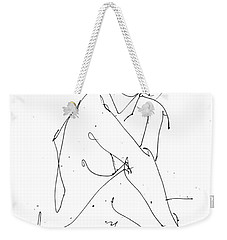 Nude-female-drawing-19 Weekender Tote Bag