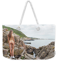 Nude Girl On Rocks Weekender Tote Bag