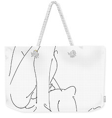 Nude-male-drawing-12 Weekender Tote Bag