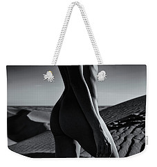 Nude On Desert Sandy Dunes Weekender Tote Bag by Amyn Nasser
