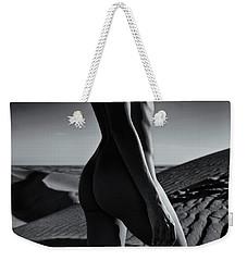 Nude On Desert Sandy Dunes Weekender Tote Bag