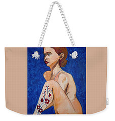 Nude With Flower Tatoo Weekender Tote Bag