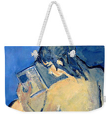 Nude With Nose In Book Weekender Tote Bag