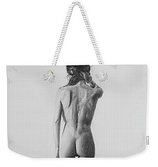 Nude Woman In High Heels Drawing Weekender Tote Bag