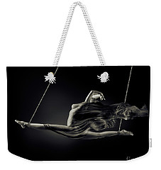 Nude Woman Swinging In Splits In The Air With Bondage Rope And F Weekender Tote Bag