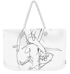 Nude_male_drawing_29 Weekender Tote Bag