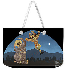 Weekender Tote Bag featuring the painting Nuestro Padre San Francisco De Asis 089 by William Hart McNichols