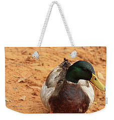 Weekender Tote Bag featuring the photograph Number 17 by Kim Henderson