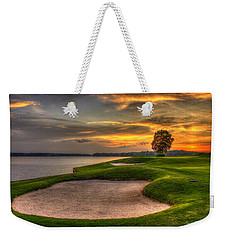 Weekender Tote Bag featuring the photograph Number 4 Sunset Traps Reynolds Plantation by Reid Callaway