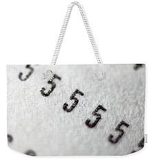 Number 5 Weekender Tote Bag