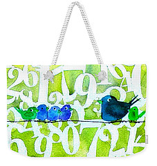 Numbirds Counting Lesson Weekender Tote Bag