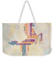 Nursery Rhymes Unicorn Weekender Tote Bag by Brandi Fitzgerald