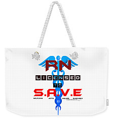 Nurses Licensed To Save Weekender Tote Bag