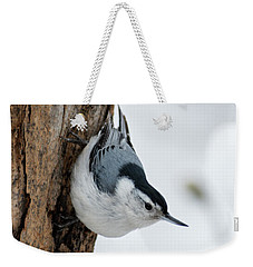 Nuthatch And Spring Snow - D010349 Weekender Tote Bag