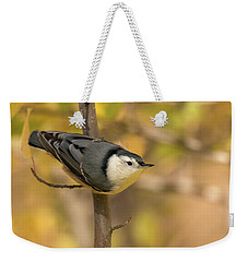 Nuthatch In Fall Weekender Tote Bag