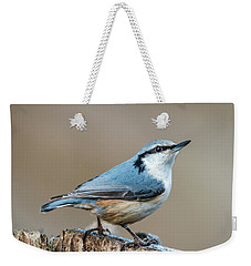 Nuthatch's Pose Weekender Tote Bag by Torbjorn Swenelius