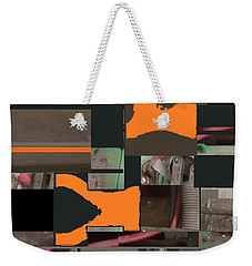 Nuts And Bolts Weekender Tote Bag by Andrew Drozdowicz