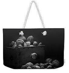 Weekender Tote Bag featuring the photograph Nuts In Black And White by Tom Mc Nemar