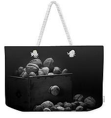 Nuts In Black And White Weekender Tote Bag by Tom Mc Nemar