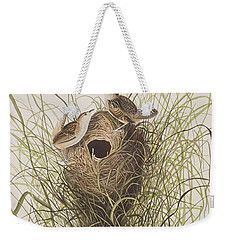 Nuttall's Lesser-marsh Wren  Weekender Tote Bag by John James Audubon