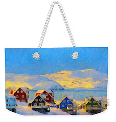 Weekender Tote Bag featuring the painting Nuuk, Greenland by Chris Armytage