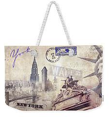 Ny City Weekender Tote Bag by Jon Neidert