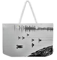 Nyack Geese  Weekender Tote Bag by Chuck Kuhn